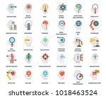 vector set of thinking and... | Shutterstock .eps vector #1018463524