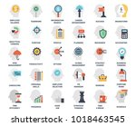 vector set of business and... | Shutterstock .eps vector #1018463545