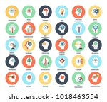 vector set of thinking and... | Shutterstock .eps vector #1018463554