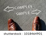 time to decide  complex or... | Shutterstock . vector #1018464901