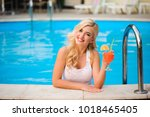effective  young blonde in the... | Shutterstock . vector #1018465405