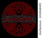 scandinavian pattern   ragnarok.... | Shutterstock .eps vector #1018468405