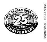 25 years anniversary.... | Shutterstock .eps vector #1018470151