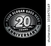 20 years anniversary.... | Shutterstock .eps vector #1018470169