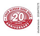 20 years anniversary.... | Shutterstock .eps vector #1018470175