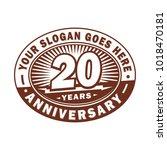 20 years anniversary.... | Shutterstock .eps vector #1018470181