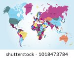 political world map | Shutterstock .eps vector #1018473784