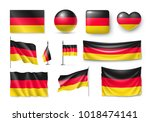 set germany flags  banners ... | Shutterstock .eps vector #1018474141