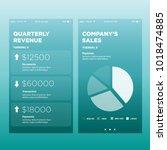 quarterly reveunue and conpany... | Shutterstock .eps vector #1018474885