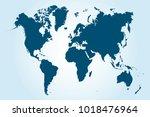 political world map | Shutterstock .eps vector #1018476964