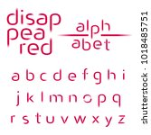 decorative alphabet ... | Shutterstock .eps vector #1018485751