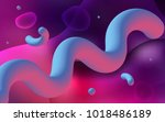 dark pink vector template with... | Shutterstock .eps vector #1018486189