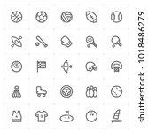mini icon set   sport icon... | Shutterstock .eps vector #1018486279