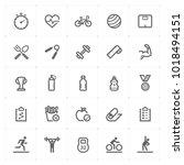 mini icon set   fitness icon... | Shutterstock .eps vector #1018494151