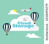cloud storage concept | Shutterstock .eps vector #1018495279