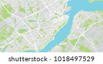 urban vector city map of quebec ... | Shutterstock .eps vector #1018497529