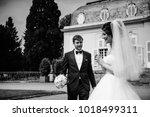 black and white photo. european ... | Shutterstock . vector #1018499311