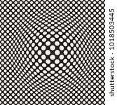 halftone bloat effect optical... | Shutterstock .eps vector #1018503445