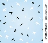 birds in the sky flying... | Shutterstock .eps vector #1018503634