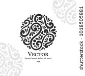 vector emblem. can be used for... | Shutterstock .eps vector #1018505881
