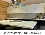 Stock photo kitchen with appliances and a beautiful interior 1018506394