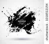 grunge splash banner | Shutterstock .eps vector #1018512154