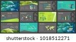 business presentation templates.... | Shutterstock .eps vector #1018512271