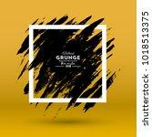 grunge background. brush black... | Shutterstock .eps vector #1018513375