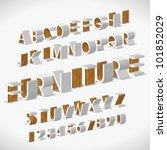 vector alphabet shaped... | Shutterstock .eps vector #101852029