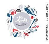 fish menu design. fresh farm... | Shutterstock .eps vector #1018521847