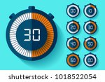 stopwatch icons set in flat... | Shutterstock .eps vector #1018522054