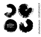 black white round grunge...   Shutterstock .eps vector #1018524019