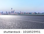 empty road with panoramic... | Shutterstock . vector #1018525951