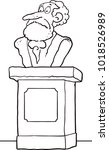 ancient person bust sculpture ... | Shutterstock .eps vector #1018526989