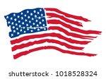 american flag   vector... | Shutterstock .eps vector #1018528324