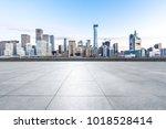 empty marble floor with... | Shutterstock . vector #1018528414