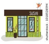 cafe vector illustrations  | Shutterstock .eps vector #1018528594