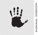 black silhouette of human hand...   Shutterstock .eps vector #1018531354