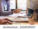 business adviser analyzing...   Shutterstock . vector #1018539025