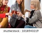 happy magazine editors... | Shutterstock . vector #1018543219