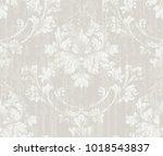 delicate vintage ornament... | Shutterstock .eps vector #1018543837