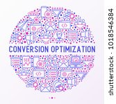 conversion optimization concept ... | Shutterstock .eps vector #1018546384