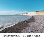 white chalk cliffs seven...   Shutterstock . vector #1018547365