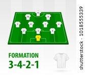 football players lineups ... | Shutterstock .eps vector #1018555339