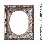 silver frame for paintings ... | Shutterstock . vector #1018555789