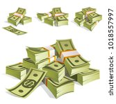 set of money. packing in... | Shutterstock .eps vector #1018557997