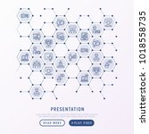 presentation concept in... | Shutterstock .eps vector #1018558735