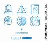 psychologist thin line icons... | Shutterstock .eps vector #1018559137