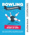 vector bowling tournament... | Shutterstock .eps vector #1018561081