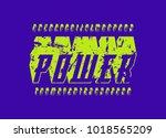 italic bulk serif font in the... | Shutterstock .eps vector #1018565209